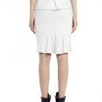 VV21 - Back - White Leather Skirt with Zip