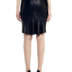 VV22 - Back - Black Leather Skirt with Zip