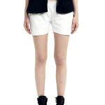 VV24 - Front 1- White Leather Shorts