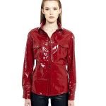 VV3 - Front - Red Leather Vernice Shirt