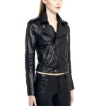 VV5 -Side - Black Leather Nappa Biker Jacket With Removable Sleeves