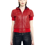 VV8 - Front - Red Leather Sweatshirt