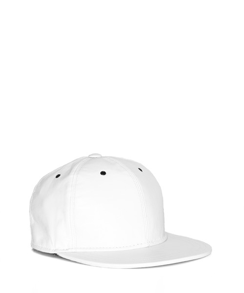 VVSNAPBACK05 - Front -White Leather Snapback