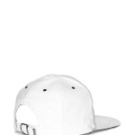 VVSNAPBACK06 - Back -White Leather Snapback with Silver Beam (2)